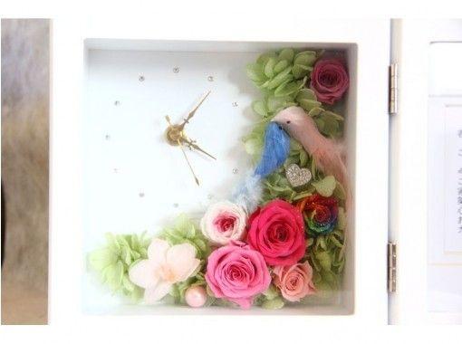【山梨・甲府】枯れない魔法のお花!プリザーブドフラワーを使用した花時計作り