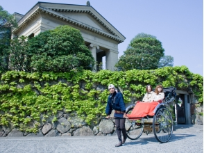 【Okayama · Kurashiki】 Affordable for 2 or more people ★ Do not hesitate to visit the beautiful district ★ Images of sightseeing guide tour (30 minutes charter course) with rickshaw