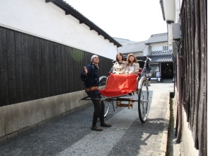 【Okayama / Kurashiki】 Deals for 2 people or more ☆ Take a close look at Kurashiki ★ Image of tour guide guided tour (60 minutes charter course) with rickshaw