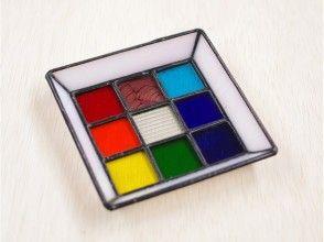 ♪讓我們做一個鑲嵌托盤9塊彩色玻璃