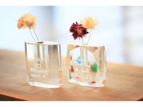 [Tokyo Ginza] Glass vase gift course ☆ A gift with the feeling of giving an anniversary ♪