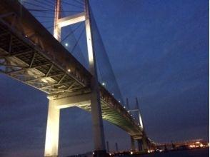 【水・木・21時集合】オープンデッキで!ダイナミックなベイブリッジを真下から見上げる特別プラン