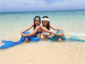[沖繩恩納]從10歲OK的參與!美人魚游泳的經驗與藍色洞穴潛水經驗