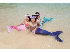 【Okinawa · Onna Village】 Participate from 2 years of age OK! Mermaid Swim Experience & Blue Cave Snorkeling