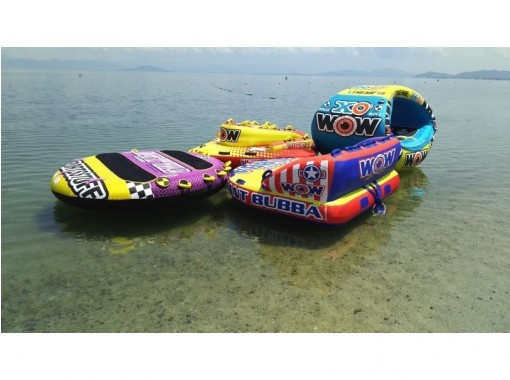 NEW 【Shiga · Biwa Lake】 Summer is this! Towing tube (banana boat etc.) white beard beachの紹介画像