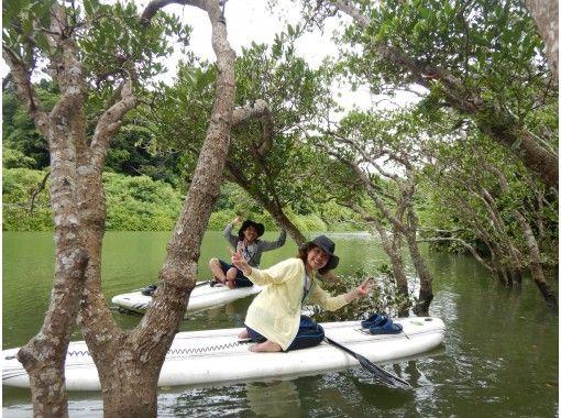本島中部・アクセス便利!マングローブリバーサップツアー★「3密」対策万全!女子旅、カップルに大人気!初めてのSUPはマングローブリバーで!
