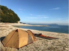 【愛媛・上島町・シーカヤック】経験者向けキャンプツアー1泊2日コース♪の画像