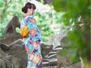 [從火車站東京淺草0分鐘的步行路程]☆浴衣[浴衣租賃和包紮計劃]去一個夏天的限制☆旅遊