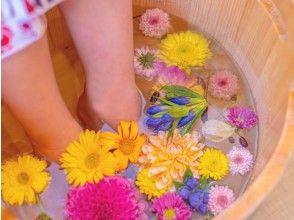 [Kyoto / Arashiyama] Flower footbath cafe & foot massage (30 minutes course)