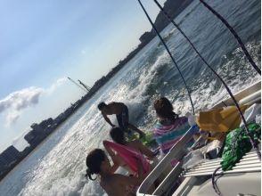 【福岡・福岡市】博多湾でウェイクサーフィン体験!