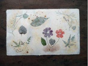 【高知県・梼原町】草花すきこみ❀伝統の紙漉き体験の画像