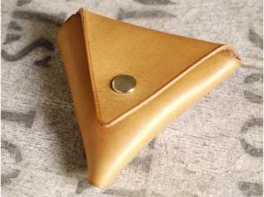 【愛知・名古屋】靴職人のレザークラフト教室☆三角コインケース作りの画像
