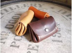 【愛知・名古屋】靴職人のレザークラフト教室「Miniアコーディオンポーチ作り」
