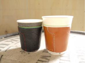 【愛知・名古屋】靴職人のレザークラフト教室☆レザーカップホルダー作りの画像