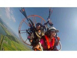 【Shiga prefecture Biwa Lake】 Paraglider to over Lake Biwa! Image of tandem flight experience course (with free commemorative photo)