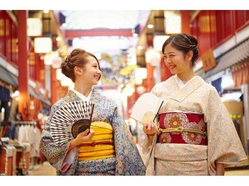[淺草,東京]引入圖像的和服租賃和頭髮組計劃