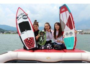 【滋賀・琵琶湖】初めての方歓迎!ウェイクサーフィン体験コース「10分(1セット)」BBQもできる♪の画像