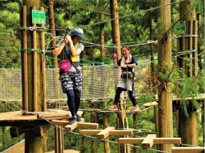 【Tokushima · Miyoshi City】 Image of Forest Adventure (Adventure Course) at Miyuran Green Guide's Iya Valley