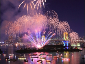 【Bilding boat】 Autumn Odaiba fireworks viewing cruise 【10849】