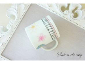 【奈良・生駒】ポーセラーツ体験♡マグカップ作りの画像