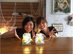 【兵庫・神戸・照明作り】マリングラスや貝殻を使ってランプシェードを作ろう♪の画像