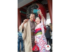 夫婦折扣計劃[10秒內從東京淺草雷門走]!和服淺草之旅★空手在OK!