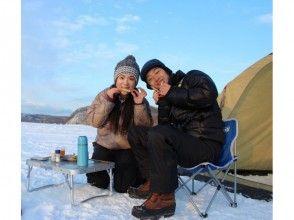 [Hokkaido Abashiri] winter program the most popular! Lake Abashiri smelt fishing experience-caught fish - in tempura on the spot