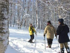 【北海道・網走】朝食前に美しい景色に出会おう!網走の森・早朝雪上スノーシューさんぽ