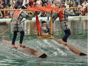 "Traditional entertainment of Edo ""Kiba no kakudon"" & guide included! Shenzhen 2 Large Tourist Attractions ~ Lunch with Fukagawa Megumi ~ 【10802】"