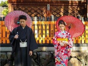 【京都・八坂神社/着物レンタル】メンズプラン★カップルで街歩きできる☆の画像