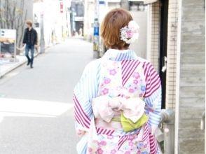 【福岡・天神】好立地でアクセス抜群★繁華街を着物で街あるき♪(フルセット込)の画像