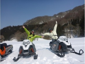 【Niigata · Naeba】 Beginners are safe as it comes with practice! Image of snowmobile tour (90 minutes course to fully enjoy nature)