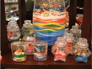 【沖縄・那覇市・地域共通クーポン】美ら海キャンドル作り(四角小)手ぶらでOK!