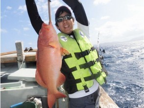 【Okinawa · Nago】 Okinawa fishing experience! Out Reef Fishing (Gurukun, Akadin etc.) Private place!