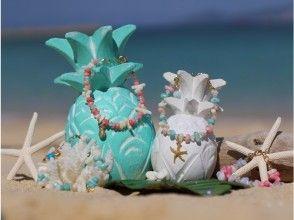 天然石とサンゴのブレスレット作り(さざれ石)