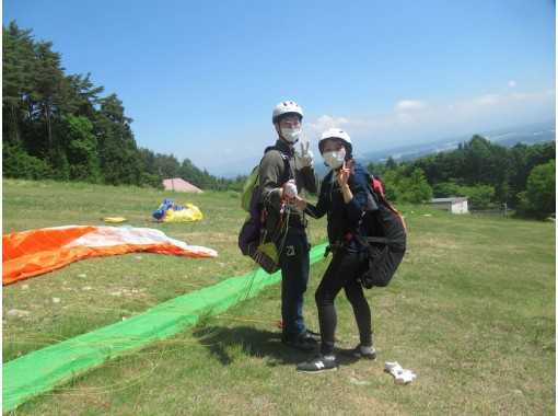 【長野・富士見パノラマ】ご自分でチャレンジ、パラグライダー半日体験コース!(中央道・諏訪南ICスグ)コロナ対策実施中