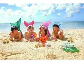 【沖縄・恩納村】マーメイド&青の洞窟シュノーケルの半日セットコース!1グループ貸切の満足プランの画像