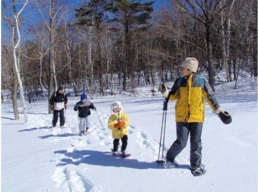 【長野・軽井沢】スノーシュー半日体験『冬の森スノー』初めて・こども・家族♪みんなで雪遊び♪冬の自然
