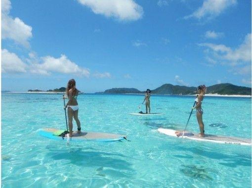 【沖縄・名護】初心者だけのサップ体験!西海岸の綺麗なサンゴ礁の上をクルージング♪