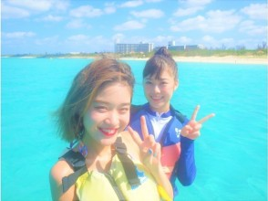 満足度NO1!海亀遭遇率100%シュノーケル&東洋一美しいビーチでマリン3種 カード払