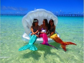 Mermaid experience on Toyo's beach & banana & marble & jet with photo data! 5 people ~ discount available! Card payment
