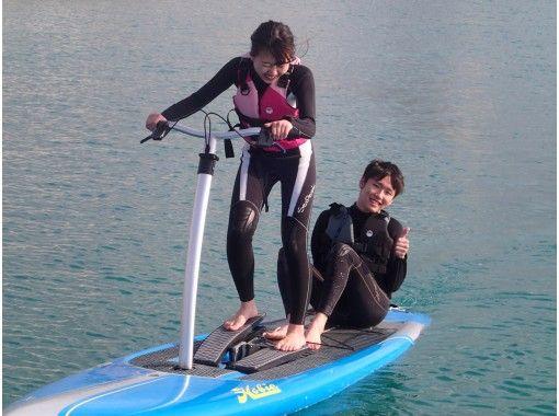 ★今話題☆新感覚★【足漕ぎサップ】ペダルを漕いでスイスイ海上移動♪海上アスレチックでも遊べちゃう♪