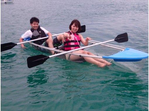 ★全部透明★【クリアカヤック】泳がずお手軽に熱帯魚ウォッチング♪海上アスレチックでも遊べちゃう♪