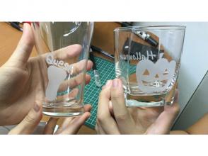 【東京・渋谷・外苑】サンドブラスト体験・簡単シールで小学1年生から体験できる安心コース♪