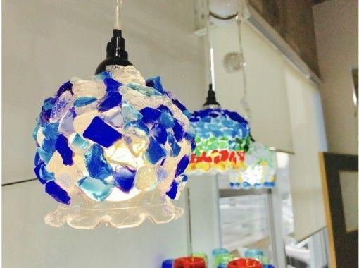 <<可以使用所有地区通用的使用优惠券冲绳/石垣岛]非常适合纪念您的旅行!制作琉球琉璃灯の紹介画像