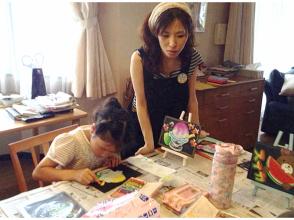 【大阪・豊中】まずは体験!子どもから大人まで、1人でもファミリーでも楽しめるチョークアート!3才からOK!