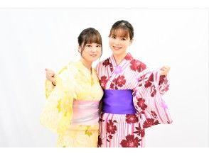 [Tokyo Asakusa] Recommended for summer Fireworks festival! Ladies' Men's Kids Yukata Rental Nakayoshi Plan (with dressing)