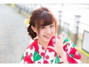 [Tokyo ・ Asakusa】 summer Fireworks festival Also recommended! Women Yukata Rental Daikichi plan (with hair set & dressing)