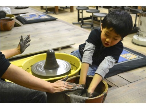 "[Okayama / Bizen] Hidaski firing course ""Electric potter's wheel experience"" Safe even for the first time!の紹介画像"