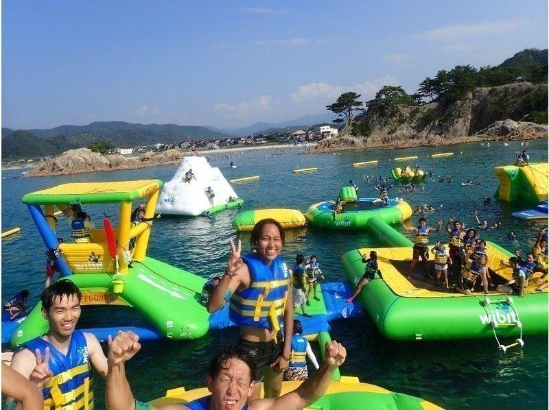 【鳥取・浦富海岸】日本最大級の海上アスレチックパーク!!フロリックシーアドベンチャーパーク浦富の画像
